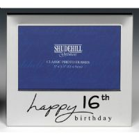 Happy 16th Birthday Silver Plated Photo Frame